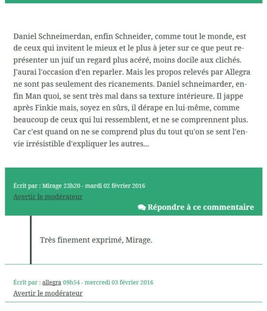Mirage sur Daniel Schneidermann